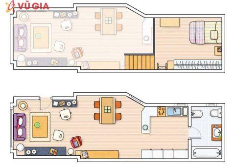Thiết kế căn hộ thông minh dài 40m2