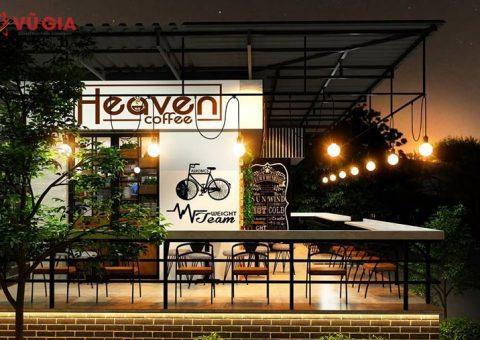 thiết kế quán cafe khung thép tiền chế