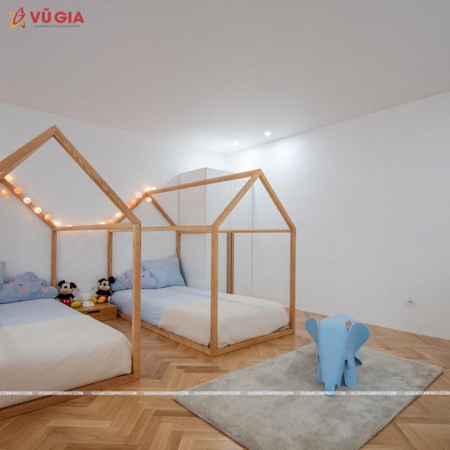 nội thất phòng ngủ màu trắng nhã nhặn